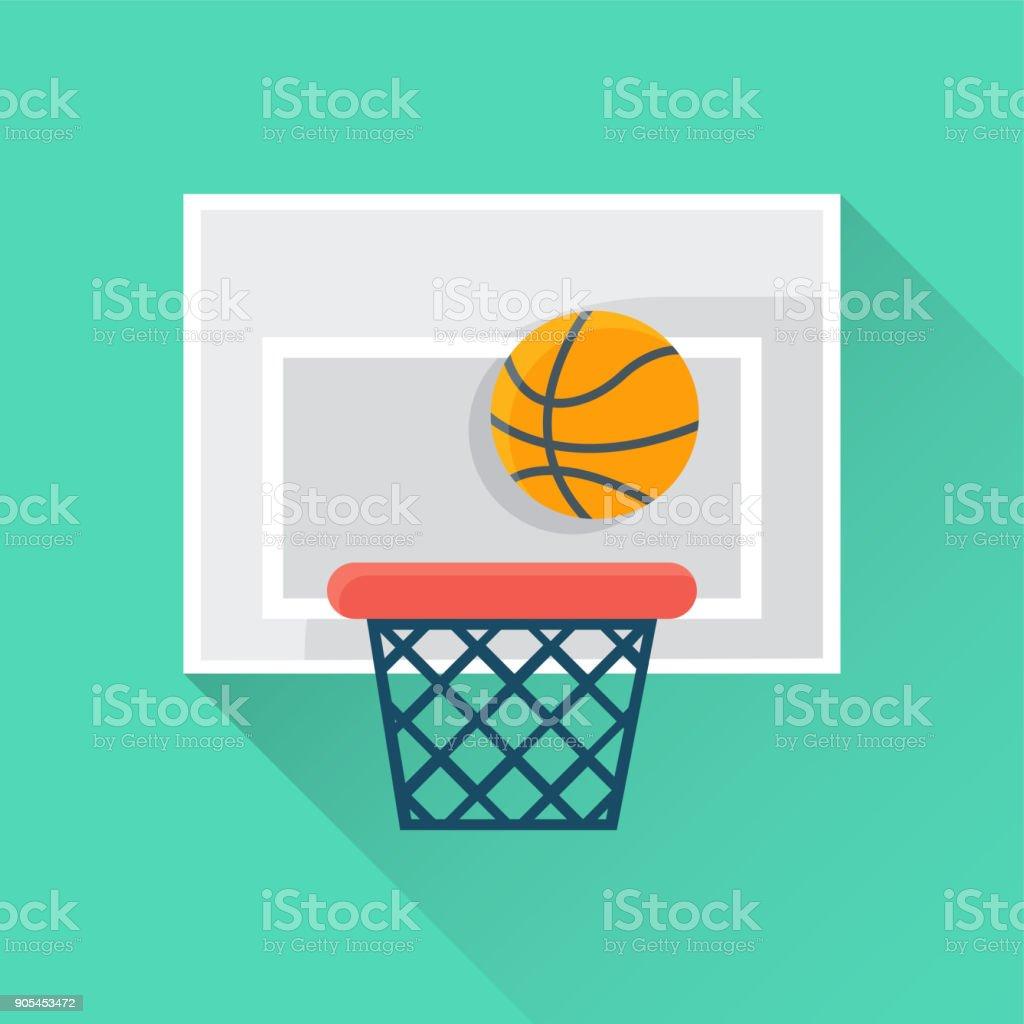 Basketball Flat Icon vector art illustration