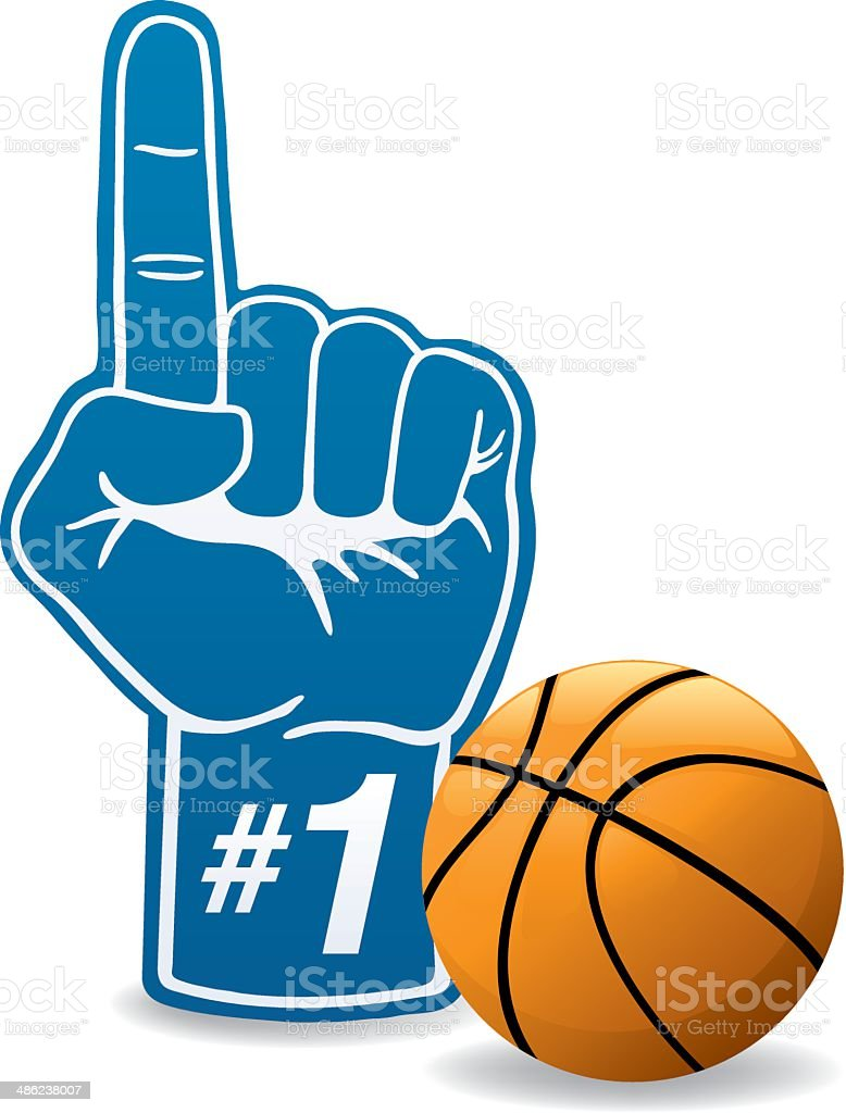 Basketball Foam Hand vector art illustration
