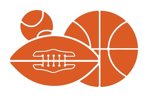 Basketball, Football and Baseball