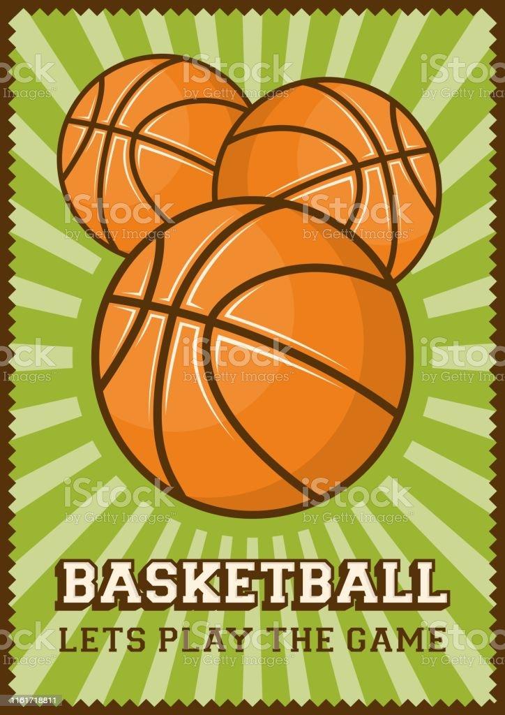 Basketball Football Sport Retro Pop Art Poster Signage