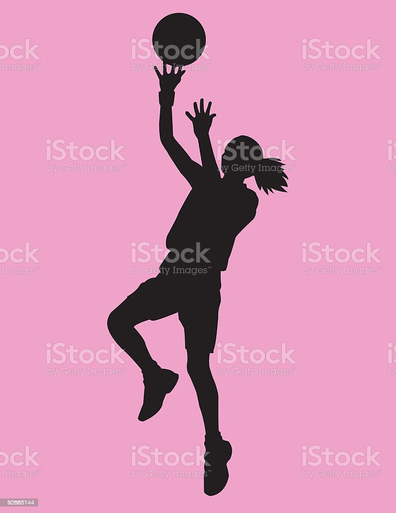 Basketball Girl vector art illustration