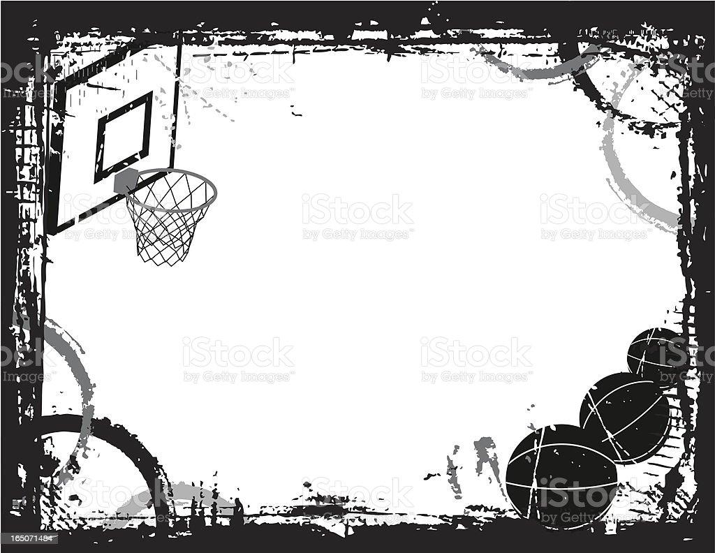 royalty free basketball border clip art vector images rh istockphoto com Basketball Silhouette Clip Art Printable Basketball Borders