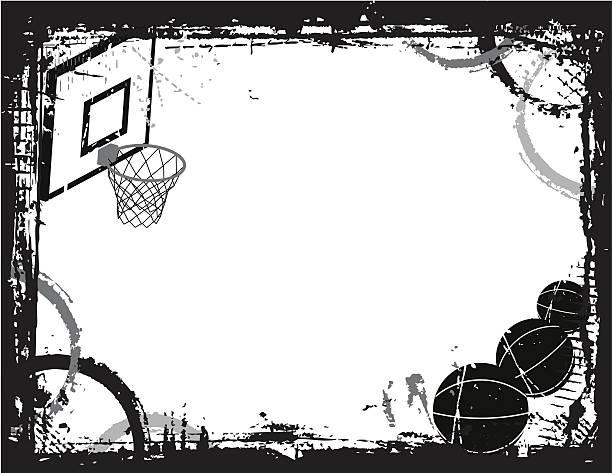 Basketball Grunge vector art illustration