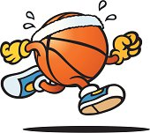 A basketball character's going for a run. Please check out my other images :)