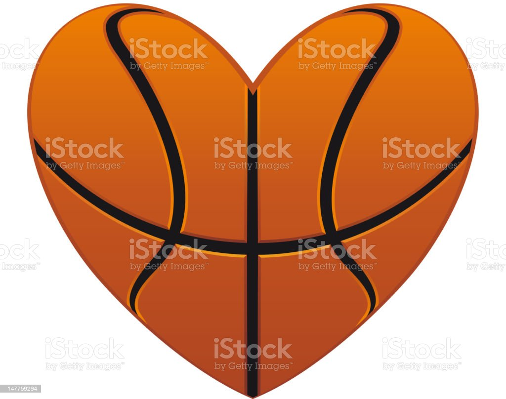royalty free heart basketball clip art vector images rh istockphoto com Black Heart Clip Art Basketball Basketball Clip Art Black and White Heart