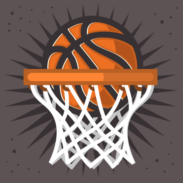 Basketball Hoop And A Ball Design Vector Graphic Basketball Hoop And A Ball Design Vector Graphic basketball hoop stock illustrations