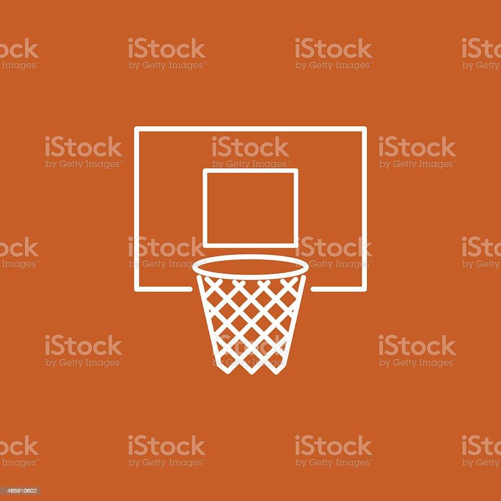 basketball hoop icon vector art illustration