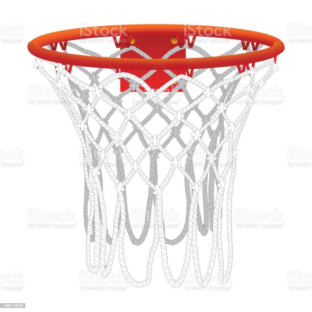 Basketballkorb, isoliert – Vektorgrafik