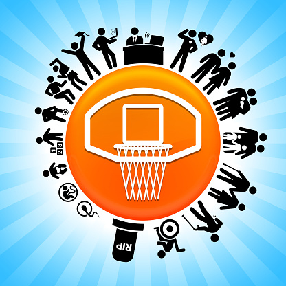 Basketball Hoop Lifecycle Stages of Life Background