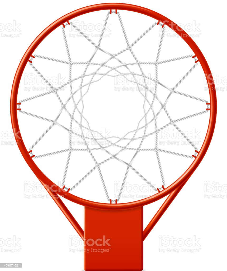 Basketball hoop vector art illustration