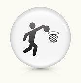 Basketball icon on white round vector button