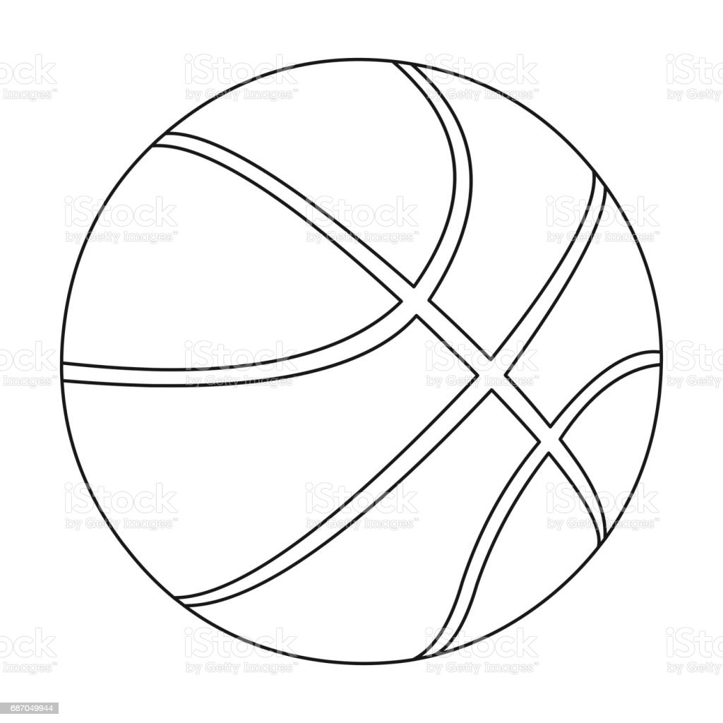 outline basketball icon ball vector sport hoop fitness clip single workout healthy toy illustrations illustration ukraine cut vectors similar