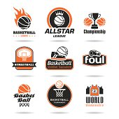Basketball-quality icons that can be used in work on the set.
