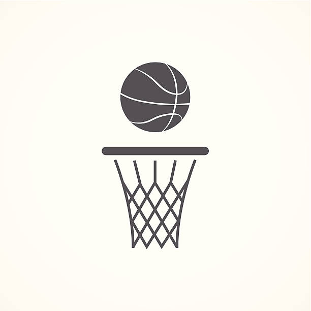 Clip Art Basket Black And White : Royalty free basketball hoop clip art vector images
