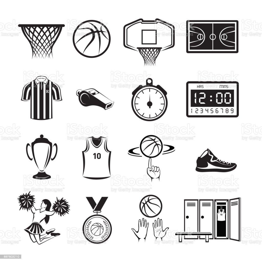 Basketball icon vector art illustration