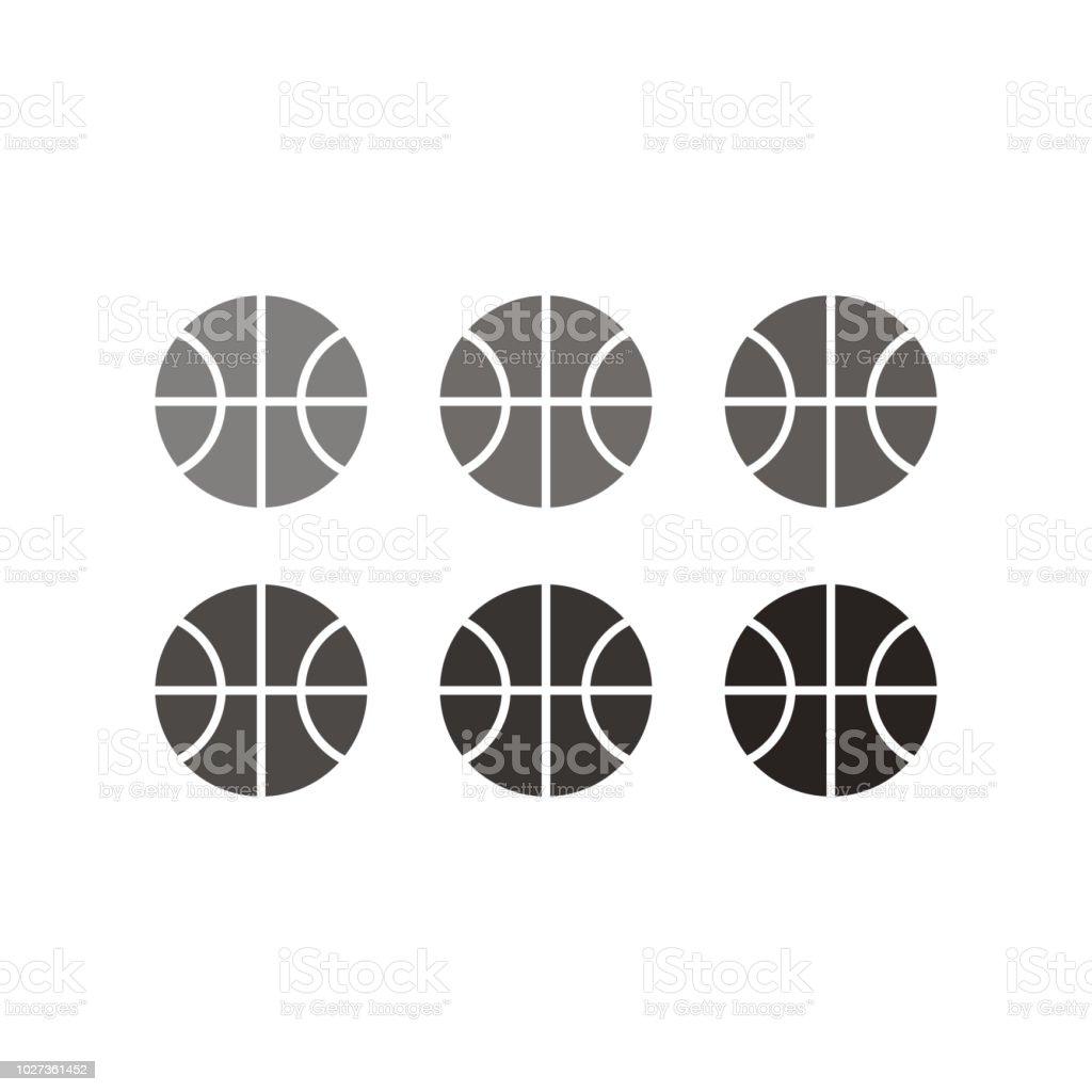 basketball icon. vector illustration