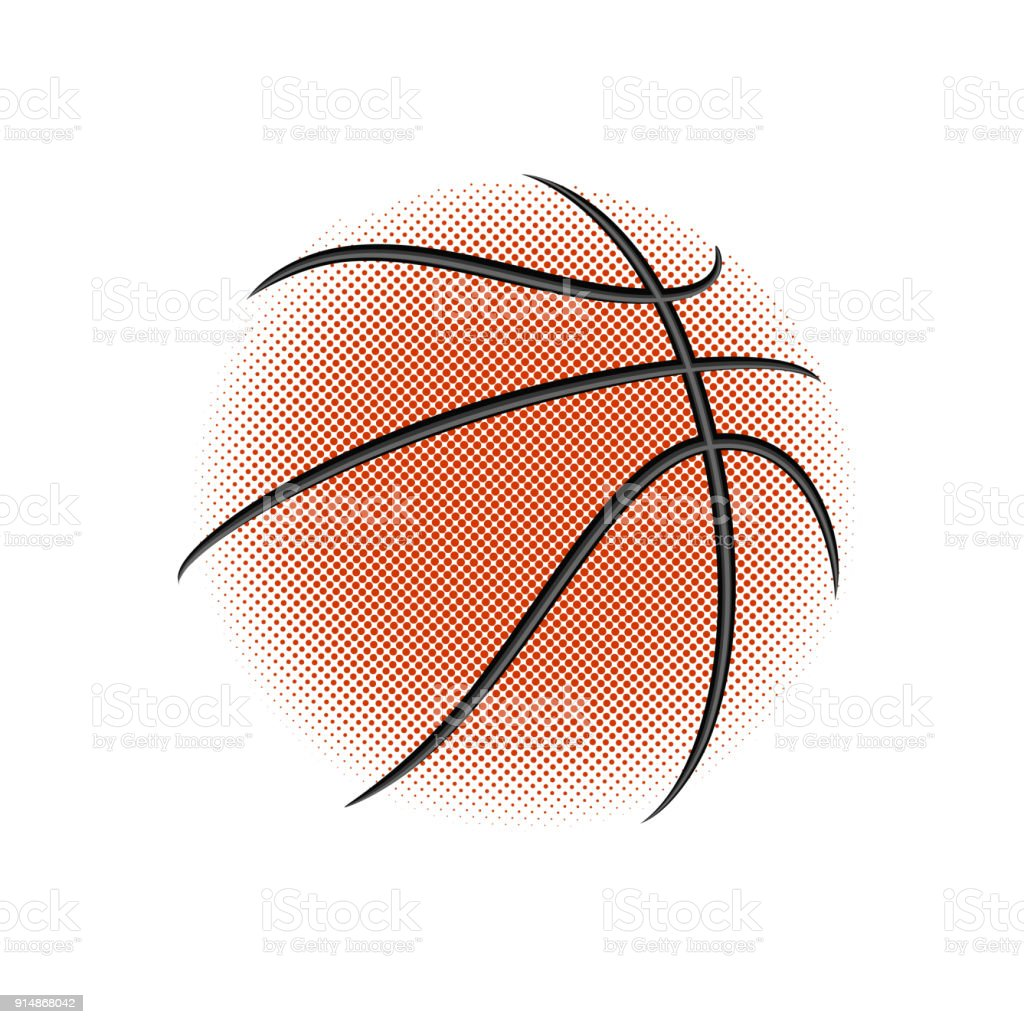 Basketball icons on white. vector art illustration