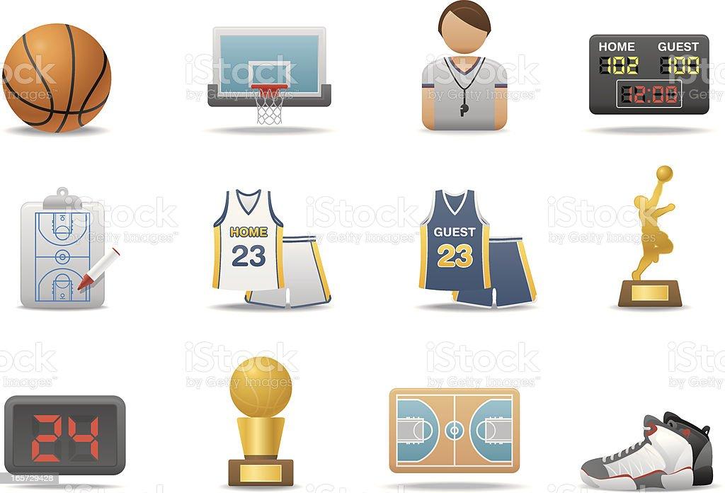 Basketball icons | Premium Matte series vector art illustration
