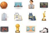 Basketball icons   Premium Matte series
