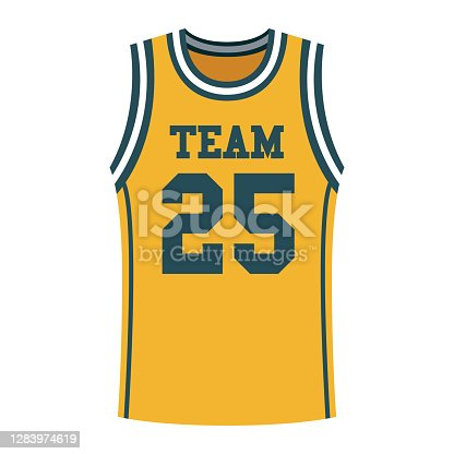 istock Basketball Jersey Icon on Transparent Background 1283974619