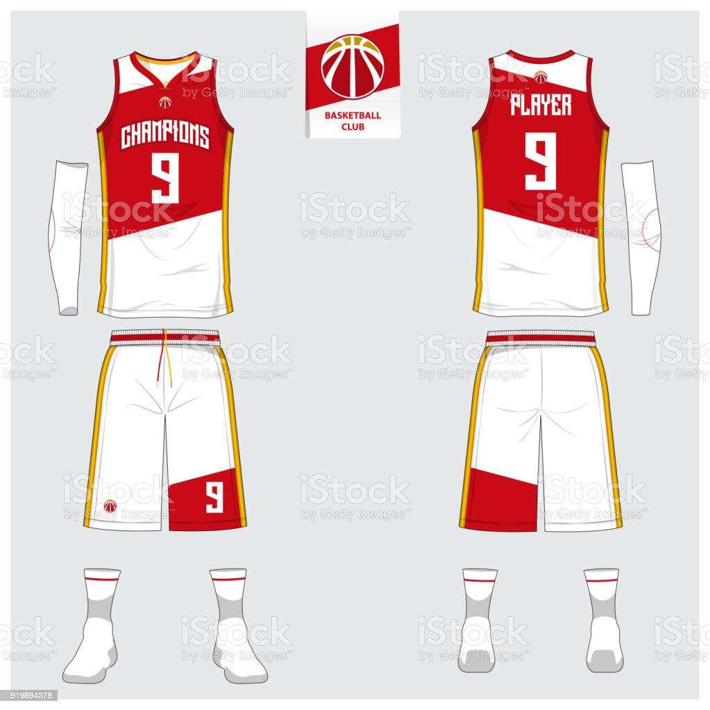 98231e7375d Basketball jersey or sport uniform, shorts, socks template for basketball  club. - Illustration .