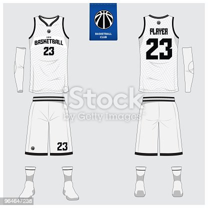 82d24fca7db Basketball jersey or sport uniform template design for basketball club.  Front and back view sport