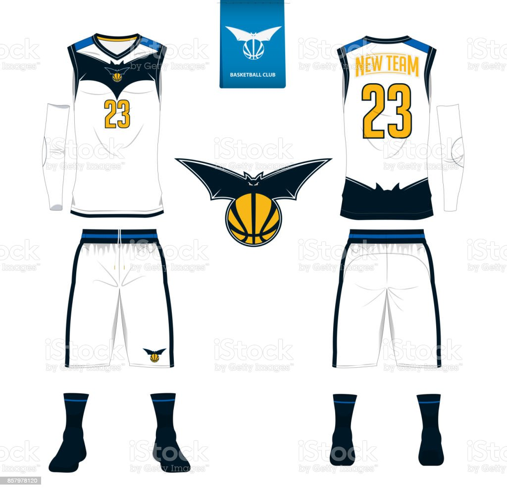 basketball jersey shorts socks template for basketball club front