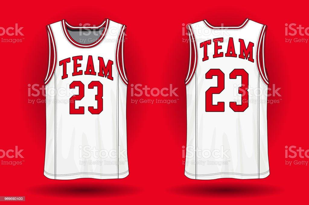 Basketball jersey, Tank top sport illustration. vector art illustration