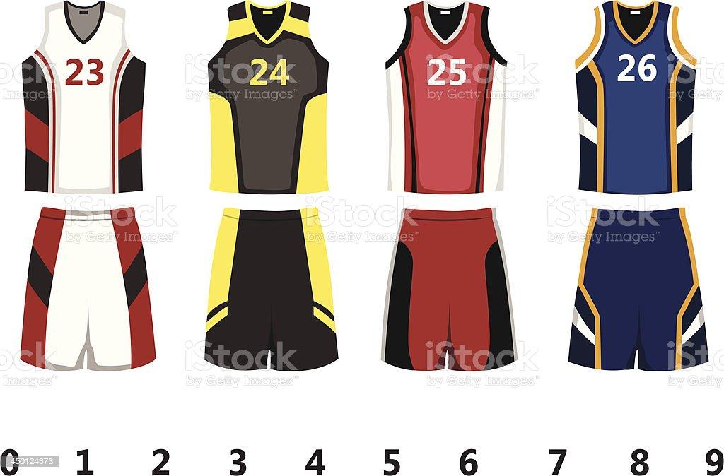 Basketball jersey vector art illustration