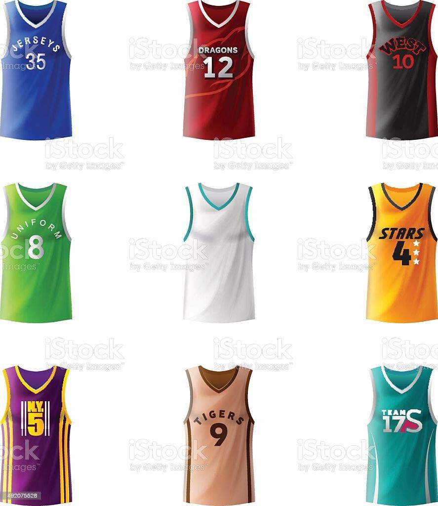Basketball Jerseys vector art illustration