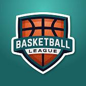 Basketball league shield.