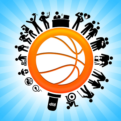 Basketball  Lifecycle Stages of Life Background