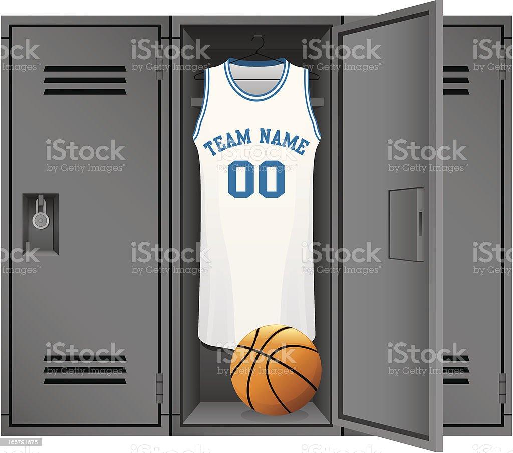 Basketball Locker Room vector art illustration