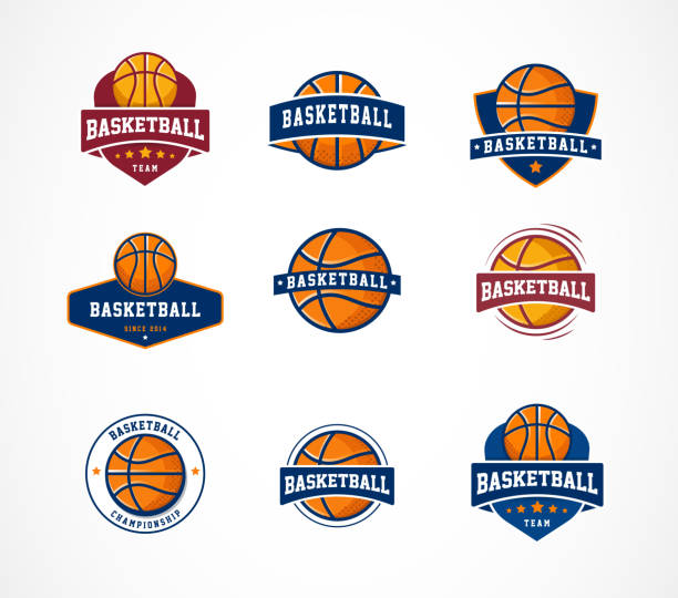 Basketball logo, emblem, icons collections, vector templates Basketball logo, emblem, icons collections - vector design templates basketball stock illustrations