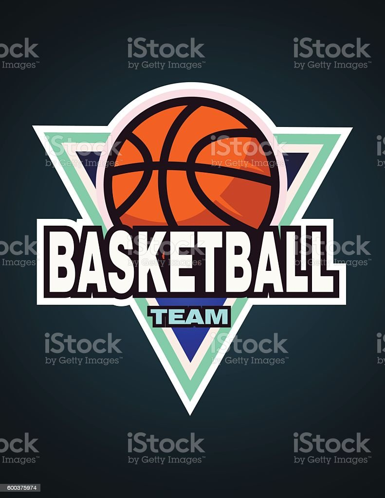 basketball logo template team label badge アイコンのベクターアート