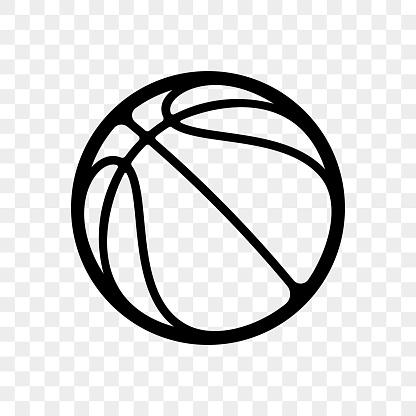 Basketball logo vector icon streetball