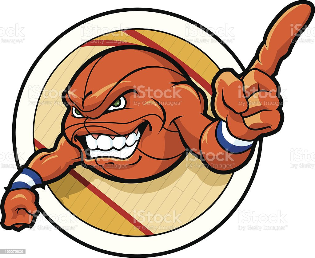 Basketball Mascot royalty-free stock vector art
