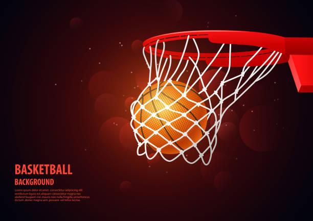 ilustraciones, imágenes clip art, dibujos animados e iconos de stock de baloncesto moderno deporte de fondo - basketball hoop