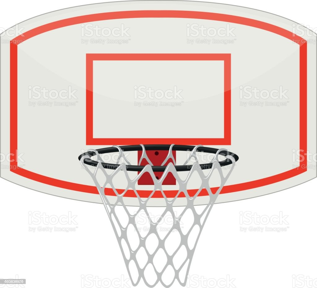 royalty free basketball hoop clip art vector images illustrations rh istockphoto com basketball going in hoop clipart basketball hoop clipart black and white