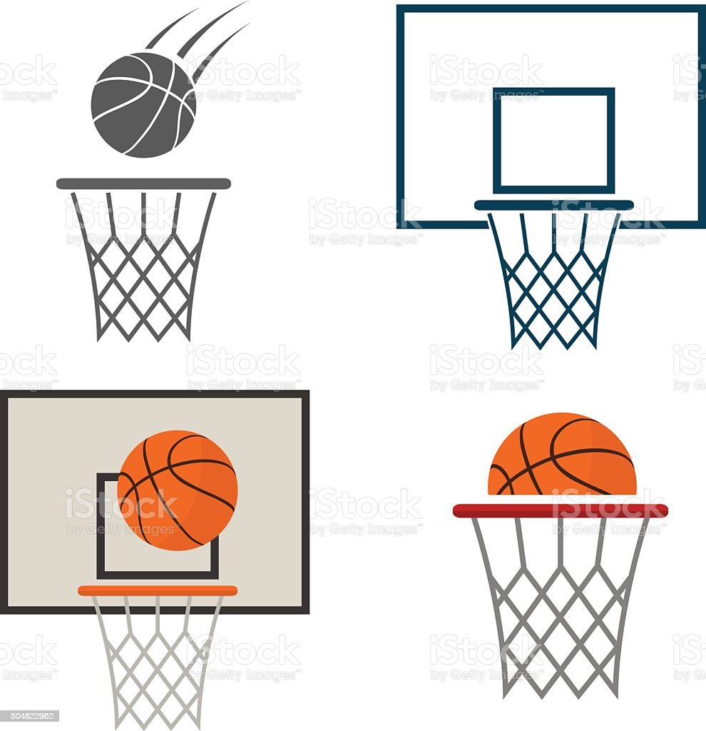royalty free basketball hoop clip art vector images illustrations rh istockphoto com basketball going into hoop clipart basketball hoop clipart black and white