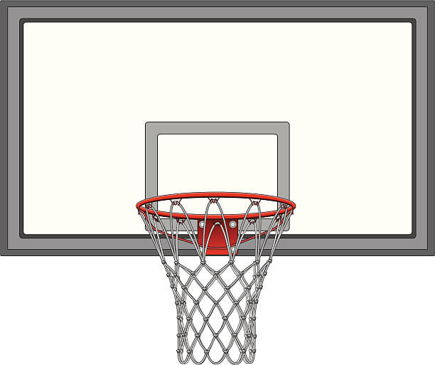 Mit Basketball-Backboard netto – Vektorgrafik