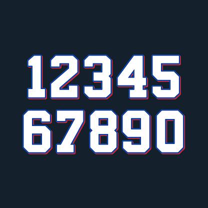 Basketball numbers set