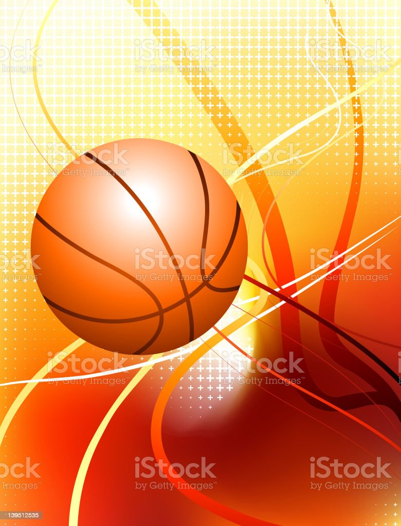 Basketball on abstract Background royalty-free stock vector art