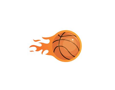 Basketball on fire - Illustration