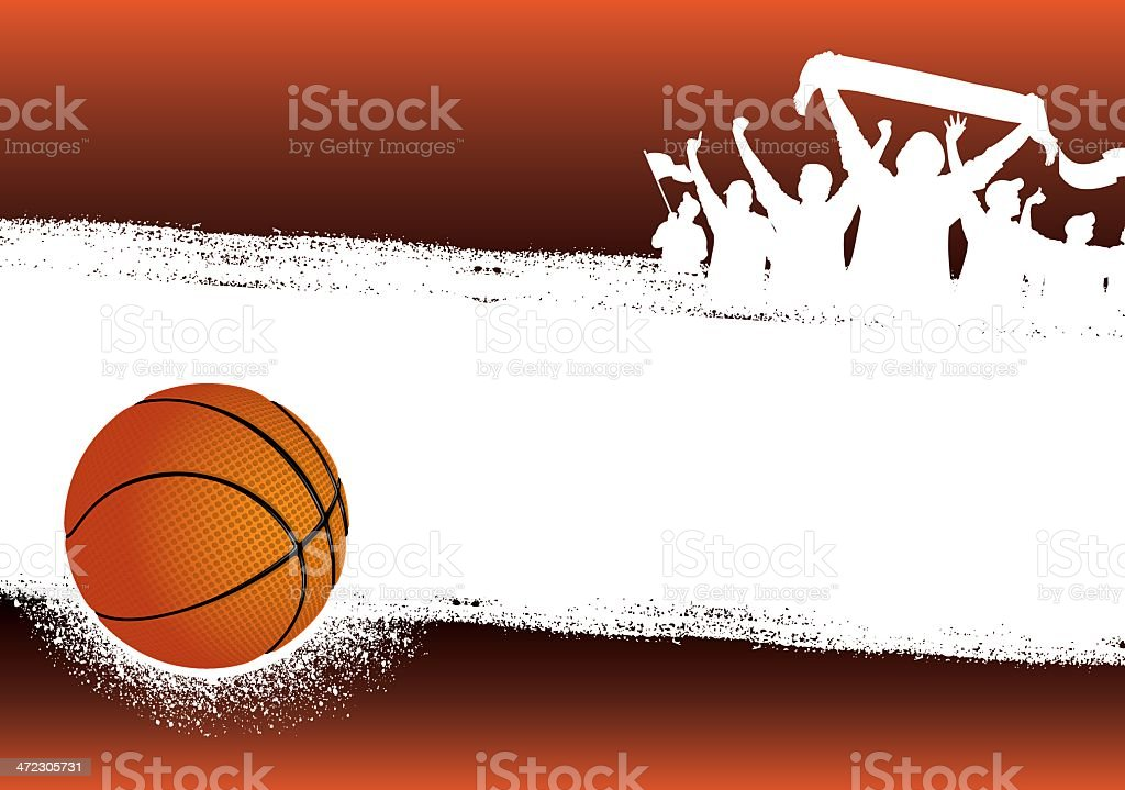 Basketball orange background vector art illustration