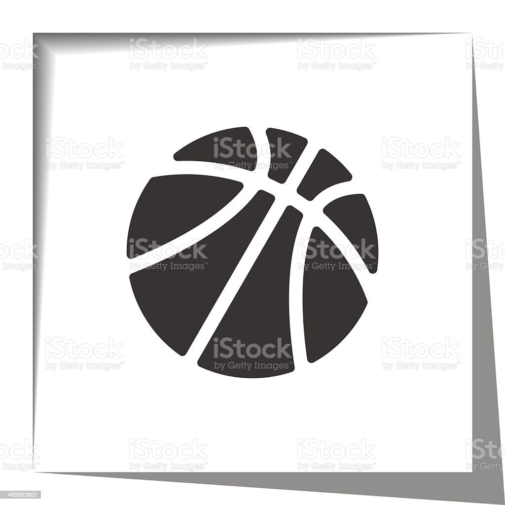 basketball paper cut out vector art illustration
