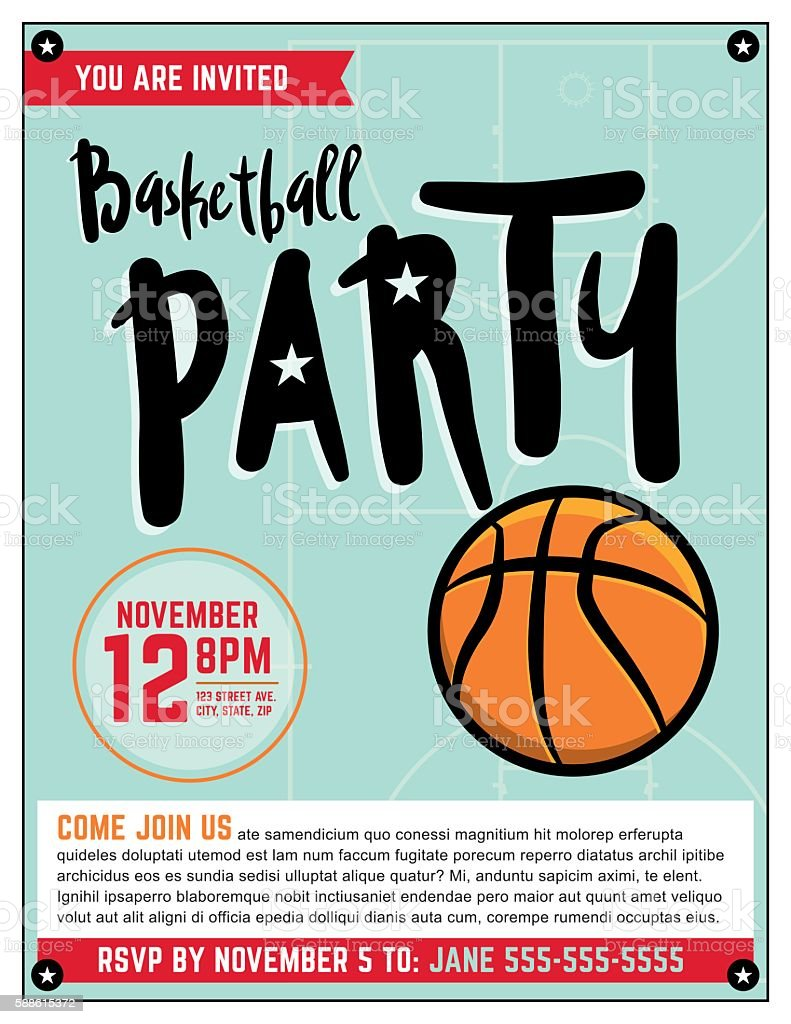 Ilustrao de basketball party invitation template illlustration e basketball party invitation template illlustration ilustrao de basketball party invitation template illlustration e mais banco de stopboris Images