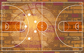 design of vector basketball field planning.This file was recorded with adobe illustrator cs4 transparent. EPS10 format.