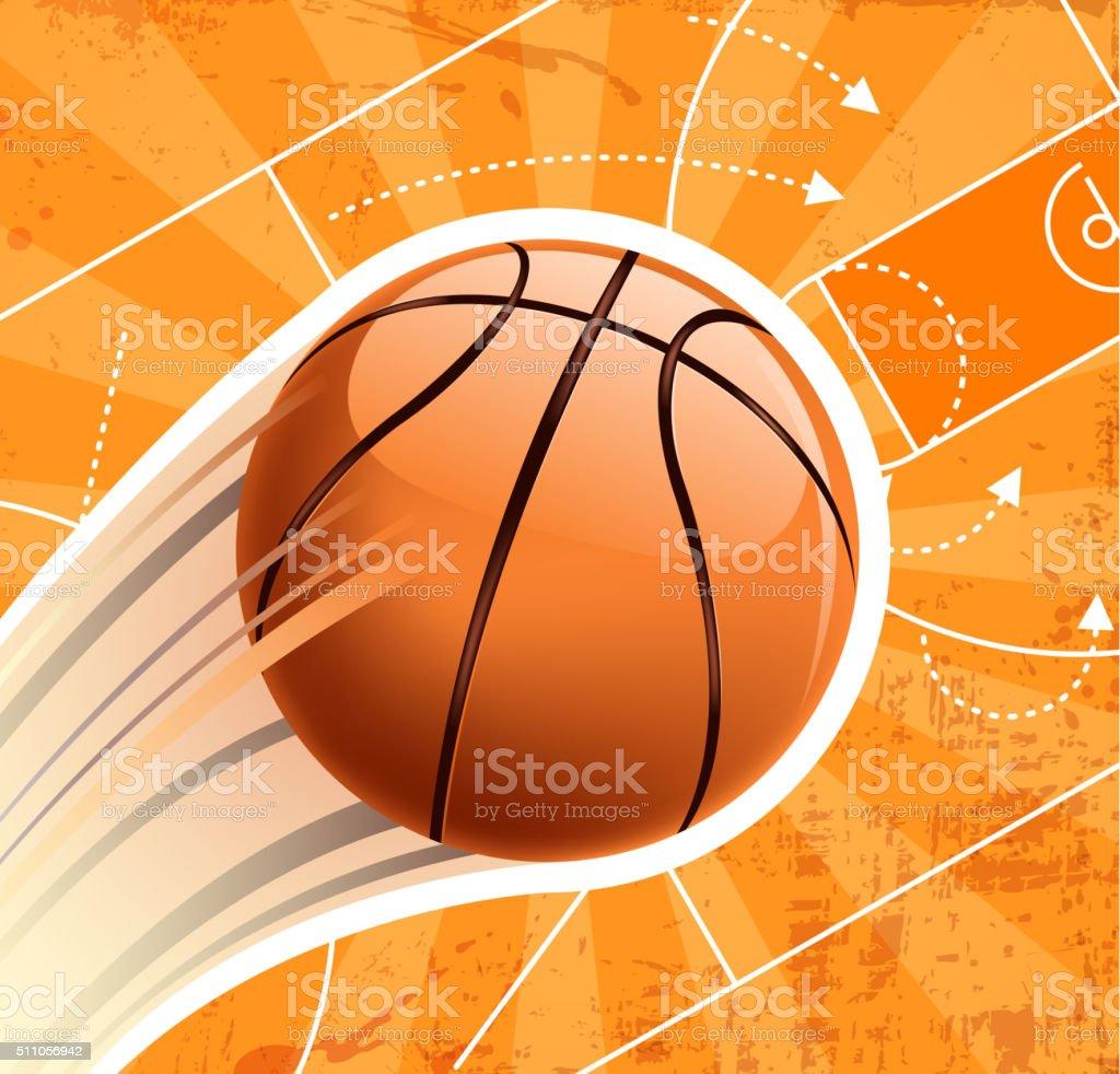 Planificación de baloncesto - ilustración de arte vectorial