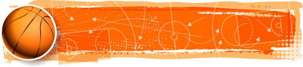 籃球規劃向量藝術插圖